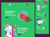 Branding- Landing Page Illustration Exploration