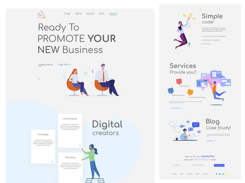 Landing page online business designer interaction design interface app homepage design uiux uiuxdesigner branding typography agent website webdesign web ui agency website business layout landing page homepage design