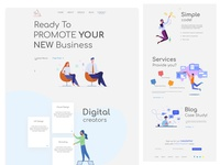 Landing page online business
