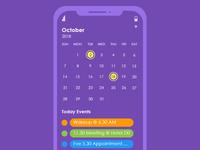 Calendar & Daily Events