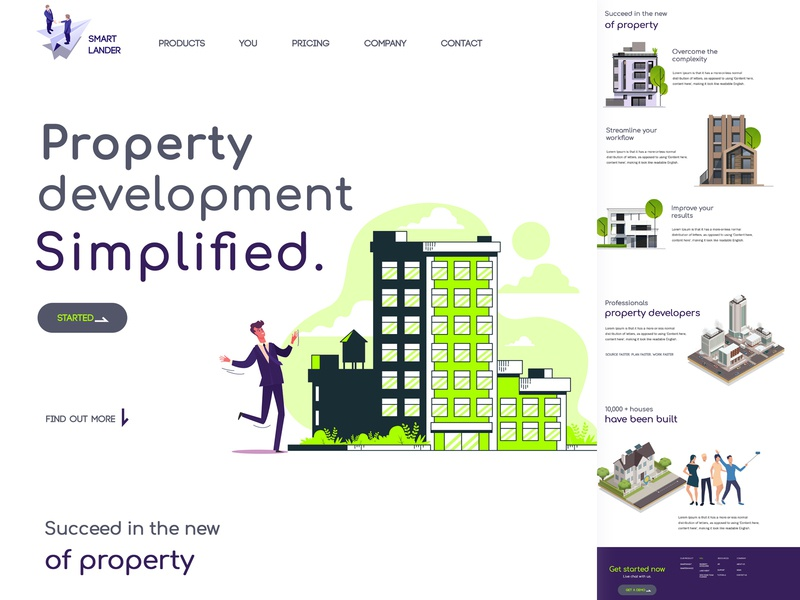 Real-state Web Page illustration design branding agency new house world trade web uiux landing page ui typography buildings realstate template website landing page flat dribbble branding design branding