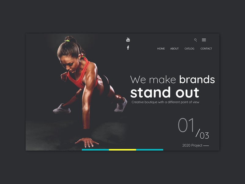 Fitness and Gym Landing Page 2020 brand fitness app workout ui ux natural landing page hero image hero girls gym fitness apps
