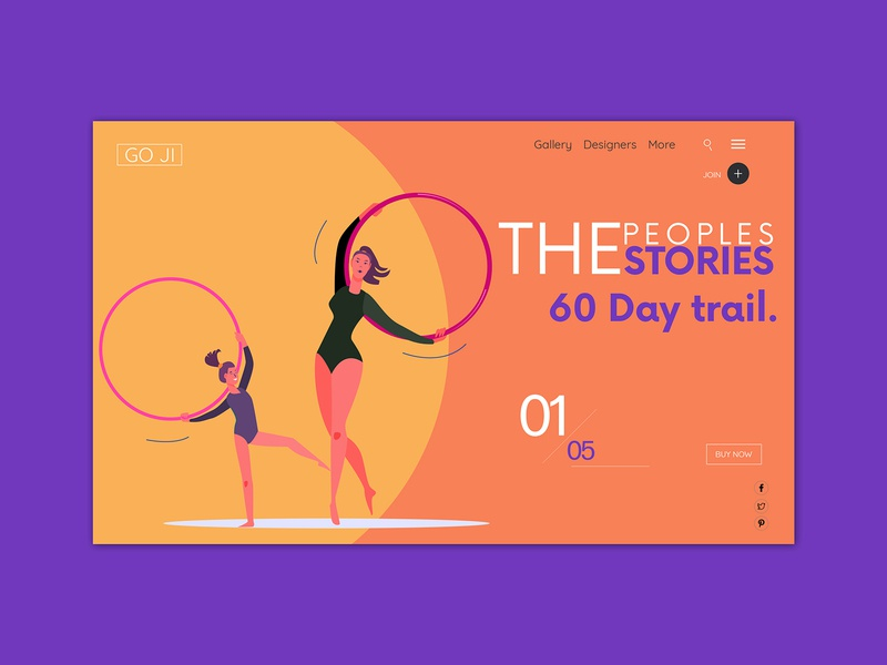 60 Days Trial. world country europe spain healthcare body women uiux trial web girls orange landingpage flat illustration home header blue flat fitness gym