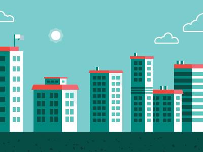 More lil' buildings  illustration vector buildings