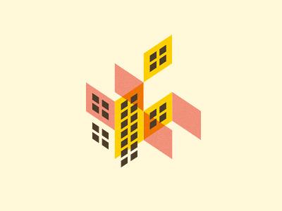 Iso Buildings isometric illustration