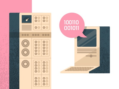 Digi + Ana illustration analog digital