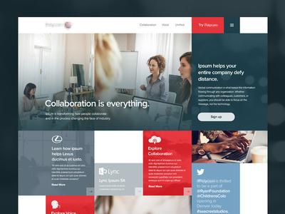 Communications Site website grid icons web 4.0