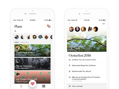 Social that means social events planning chat social visual ux ui app