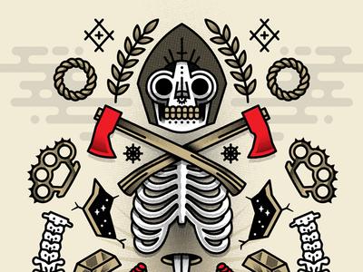 Occultus Maximus death skull illustration vector horror scary occult