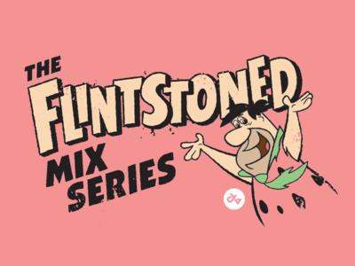 FLINTSTONED typography cartoons flintstones