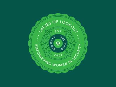 LoL women ladies mobile security sko ladies of lookout lookout badge