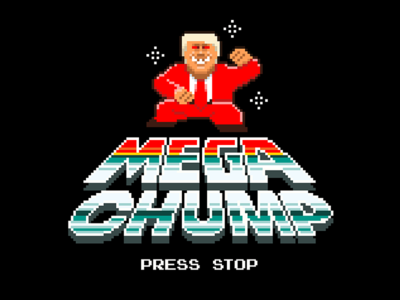 MEGA CHUMP ® pixel 8 bit trump chump mega chump
