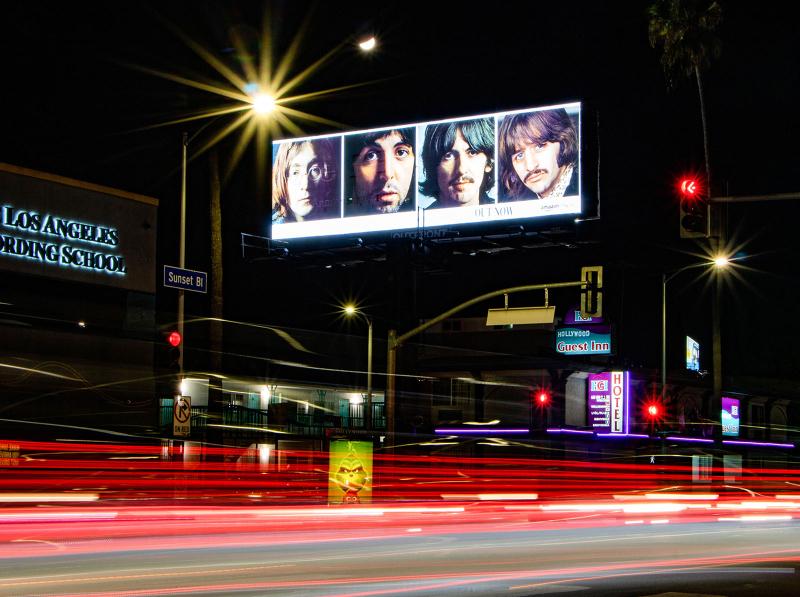 The Beatles Day/Night Transitioning Billboard