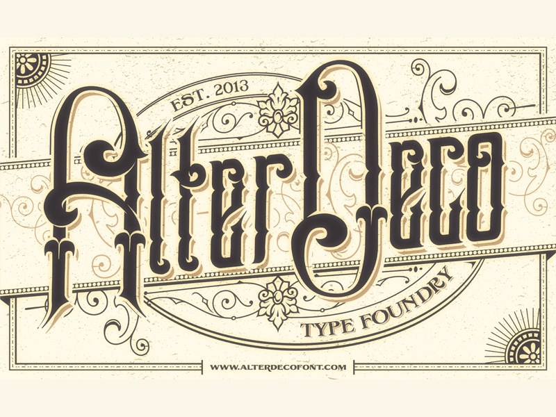 victorian typographic poster by aditsaputra on Dribbble