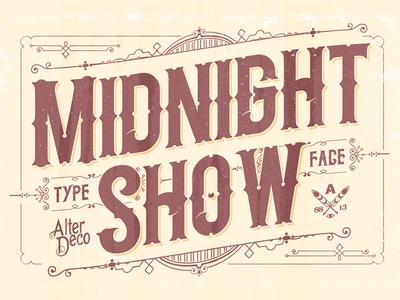 Midnight Show typeface