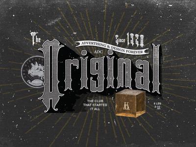 the Original typographic poster