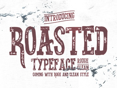Roasted typeface project