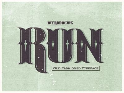 Run typeface