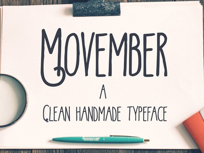 Movember typeface