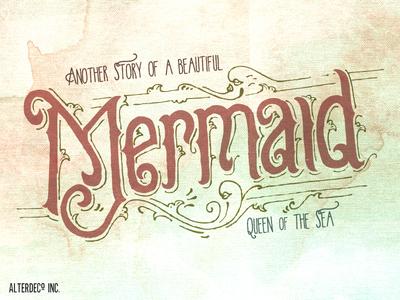 Mermaid lettering work