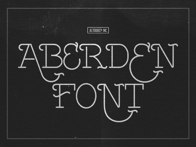 Abarden Typeface