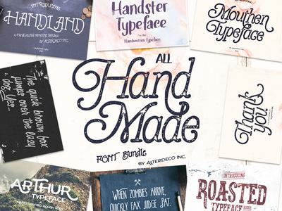 All Handmade Font Bundle