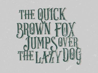 Brown Fox - new typeface project coming soon