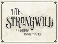 Strongwill Typeface handlettering lettering old school retro victorian vector vintage typeface typography font