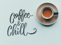 Coffee & Chill lettering handlettering lettering typography