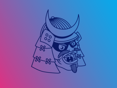 Emblem Samurai characterdesign vector branding illustration art design logo digital art illustration cartoon samurai