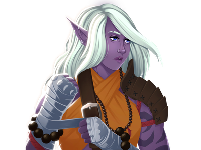 Drow Elf Illustration design illustrations dungeonsanddragons illustration art characterdesign fantasy dungeons and dragons digital painting digital art illustration character design character