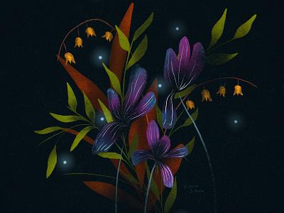 Foliage Illustration botanic botanic design pattern design floral pattern floral illlustration illustration procreate botany