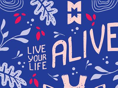 Sneak Peek 2018 Middle Waves Poster palette branding hand lettering illustration poster design middle waves festival poster gig poster