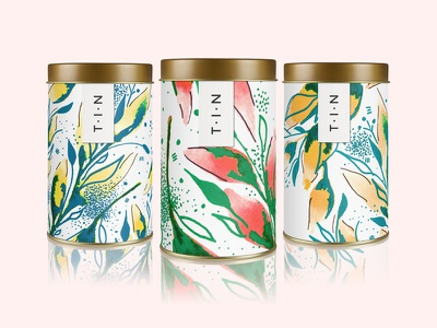 Painterly Packaging floral illustration illustration branding packagingdesign packaging watercolor packaging watercolor florals watercolor
