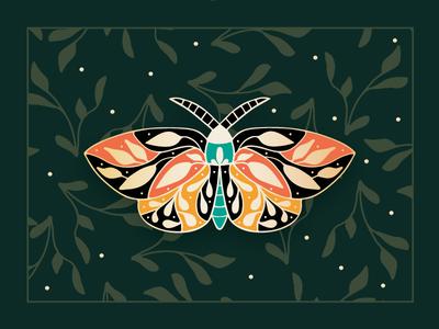 Moth Enamel Pin Artwork