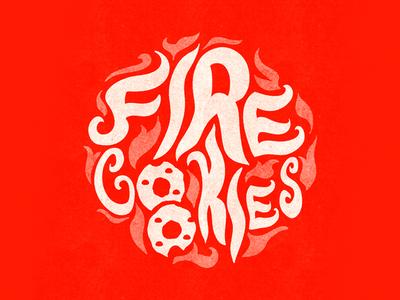 Fire Cookies Logo Illustration