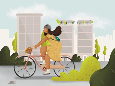 Cycle - Things to do about Climate Change procreate health character climate emergency digital illustration environment climatechange characterdesign visual development background design children illustration digital drawing branding character design characters design visual art climate change 36daysoftype illustration