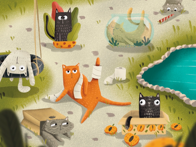 Zero Waste - Things to do about Climate Change characters plants environment climatechange characterdesign climate change background design climate emergency visual art visual development children illustration character design digital illustration procreate 36daysoftype illustration art illustration cat cats digital drawing