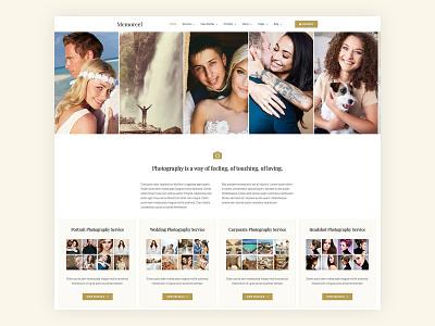 Memoreel | Photography Agency Website photography elementor-pro elementor templates elementor photographer web design wordpress website design