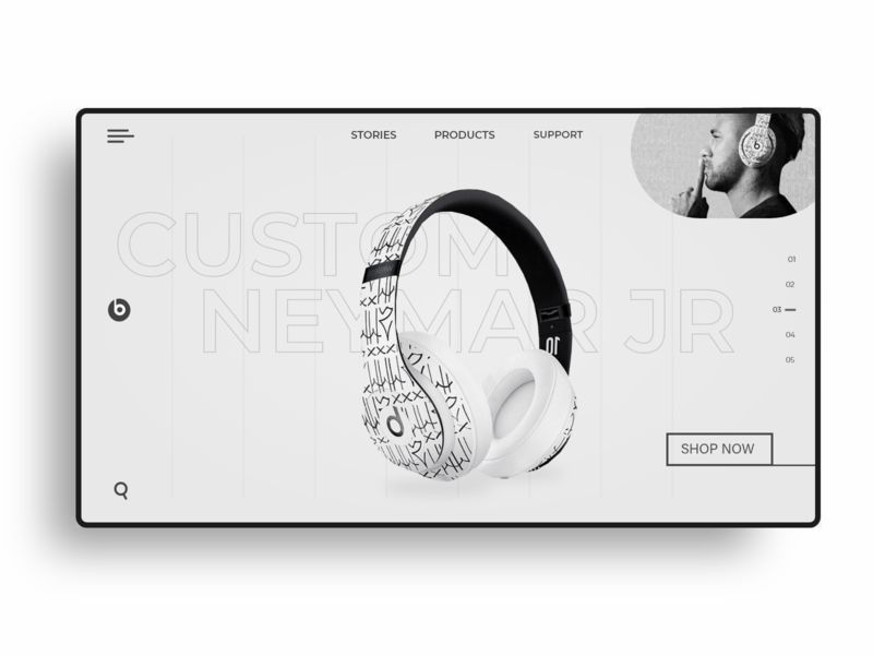 Beats by Dre web design design beats by dre beats website web ux ui