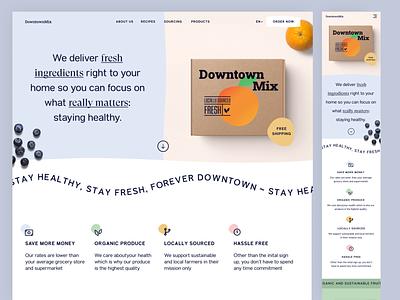 Grocery Delivery - Hero Exploration fresh healthy organic service delivery food header exploration grocery hero design web design concept website web ui