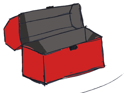 Drawn red toolbox tools container red toolbox drawn