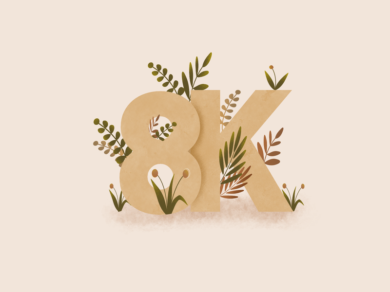 simple typography floral design illustration typography