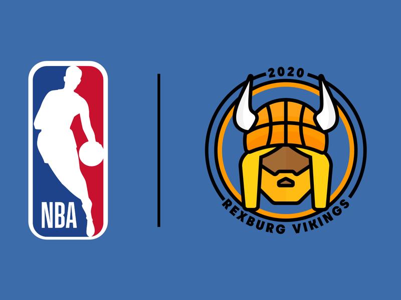 Fantasy NBA Team Logo logodesign rexburg idaho vikings soccer badge soccer posters marketing apparel sports basketball nba logo design