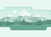Mountains 06 skilled shadows shadow illustration design landscape canyon green monochromatic clean