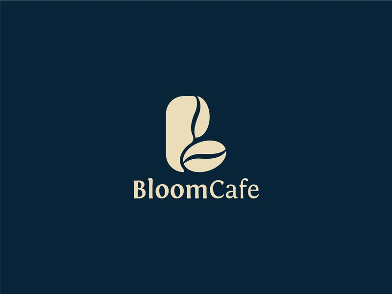 Bloom Cafe- Coffee Shop Logo design Branding. typography mordern logo cafe logo professional unique logo design business corporate professional brand logo design logo turbo coffee coffee roaster coffee identity coffee house brewing coffee branding coffee
