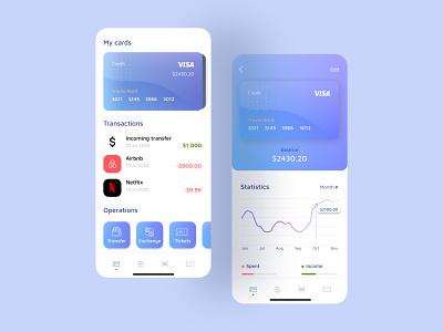 Bank App Preview money minimal ux branding ui mobile design app finance bank