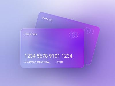 Credit card - Glassmorphism banking bank mastercard visa features course 3d ui daily ui design branding trends coins money credit card credit glassmorphism