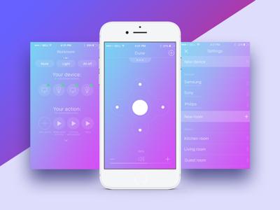 Smart Home Concept tv tv remote ux ui smart home remote navigation mobile landscape home design app