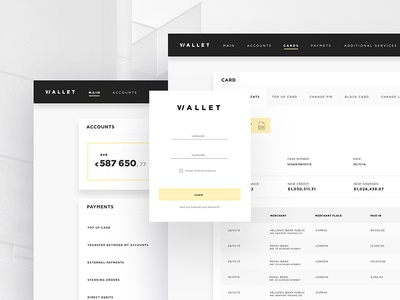 Wallet — online banking for insignia